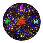 Science Pyramid Graphic Round Car Magnet