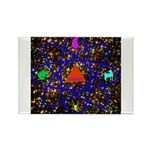Science Pyramid Graphic Rectangle Magnet