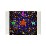 Science Pyramid Graphic Rectangle Magnet (100 pack