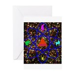 Science Pyramid Graphic Greeting Card