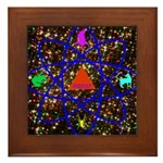 Science Pyramid Graphic Framed Tile