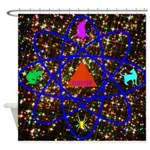 Science Pyramid Graphic Shower Curtain