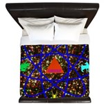 Science Pyramid Graphic King Duvet