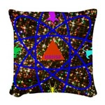 Science Pyramid Graphic Woven Throw Pillow