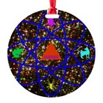 Science Pyramid Graphic Round Ornament