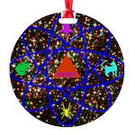 Science Pyramid Graphic Round Ornament