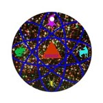 Science Pyramid Graphic Ornament (Round)