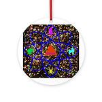 Science Pyramid Graphic Ornament (Round)