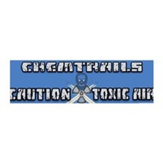 Caution Chemtrails - Toxic Air Wall Decal