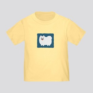 White Pomeranian Toddler T-Shirt