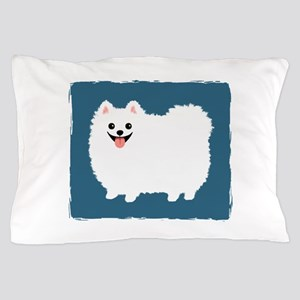 White Pomeranian Pillow Case