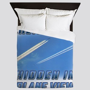 Chemtrails - Hidden in Plane View Queen Duvet