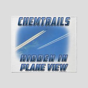 Chemtrails - Hidden in Plane View Throw Blanket