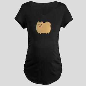 Pomeranian Maternity Dark T-Shirt