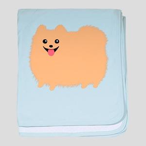 Pomeranian baby blanket
