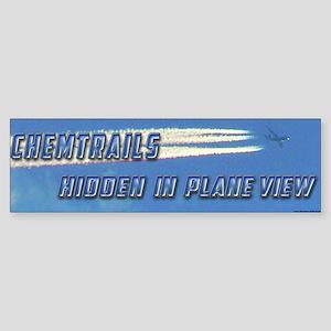 Chemtrails - Hidden in Plane View Bumper Sticker