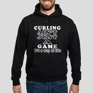 Curling ain't just a game Hoodie (dark)