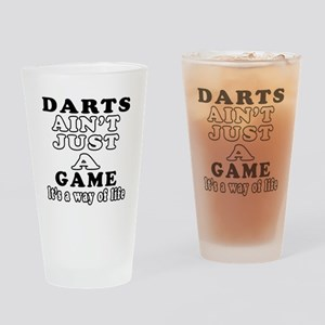 Darts ain't just a game Drinking Glass
