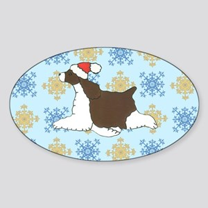 Holiday Springer Oval Sticker
