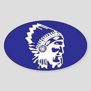 Blue Indian Head Dress Blue Sticker