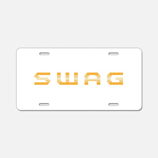 swag-2k-orange Aluminum License Plate