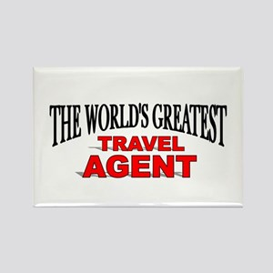 """The World's Greatest Travel Agent"" Rectangle Magn"