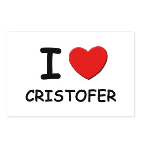 I love Cristofer Postcards (Package of 8)