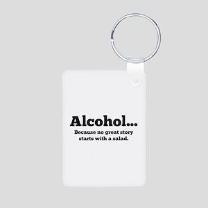 Alcohol Aluminum Photo Keychain