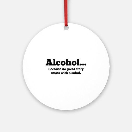 Alcohol Ornament (Round)