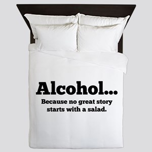 Alcohol Queen Duvet