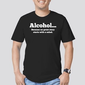 Alcohol Men's Fitted T-Shirt (dark)