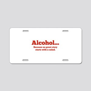 Alcohol Aluminum License Plate