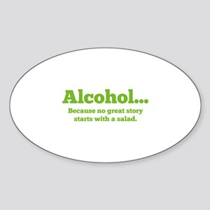 Alcohol Sticker (Oval)