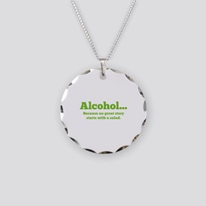 Alcohol Necklace Circle Charm