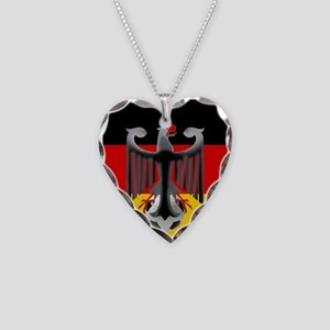 German Soccer Flag Necklace Heart Charm