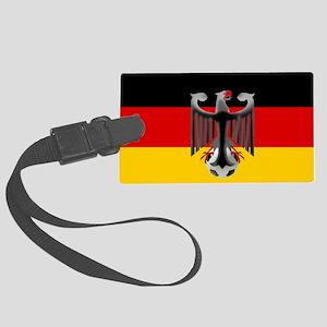 German Soccer Flag Large Luggage Tag