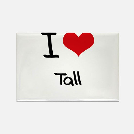 I love Tall Rectangle Magnet