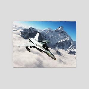 F-18 Hornet 5'x7'Area Rug