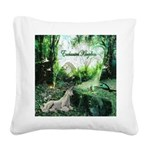 enchanted kingdom Square Canvas Pillow