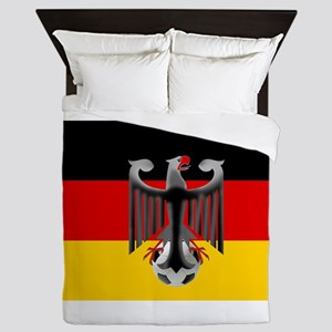 German Soccer Flag Queen Duvet