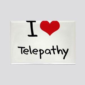 I love Telepathy Rectangle Magnet