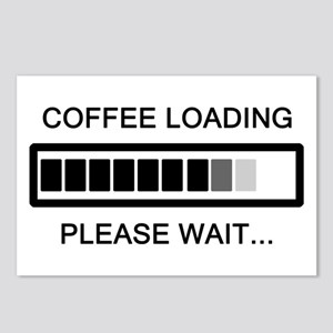 Coffee Loading Please Wait Postcards (Package of 8