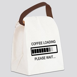 Coffee Loading Please Wait Canvas Lunch Bag