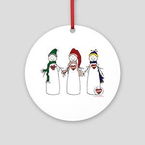 """Snowmen"" Ornament (Round)"