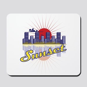 Sunset in the city Mousepad