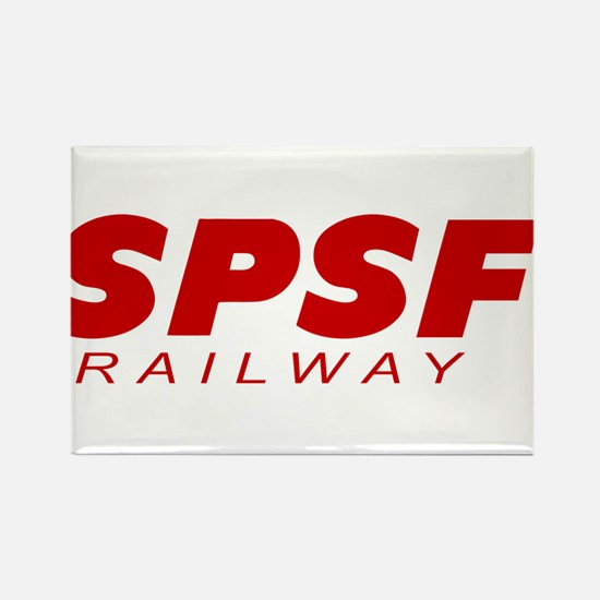 SPSF Railway Logo Red Rectangle Magnet
