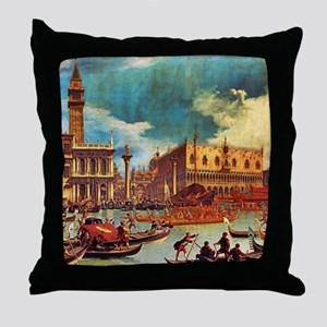 Canaletto: Bucentaurs Return Throw Pillow