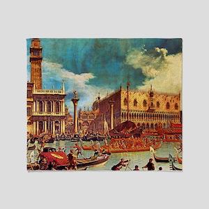 Canaletto: Bucentaurs Return Throw Blanket