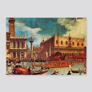 Canaletto: Bucentaurs Return 5'x7'Area Rug