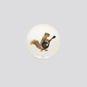 Squirrel Mandolin Mini Button